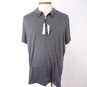 Alfani Stretch Men's Gray Polo Shirt Size XXL NWOT
